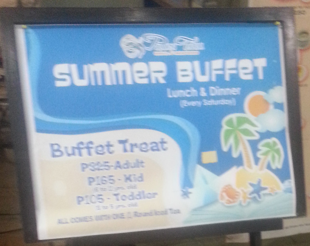 Buffet Lunch and Dinner during Saturdays